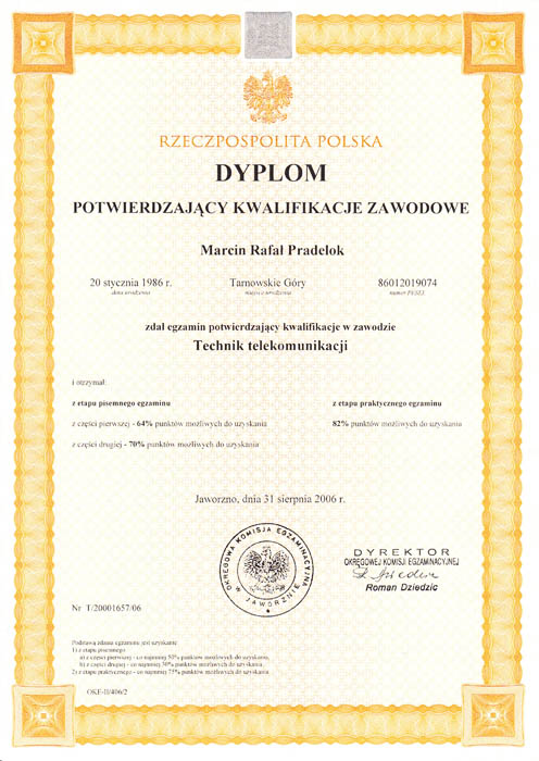 Dyplom Technika